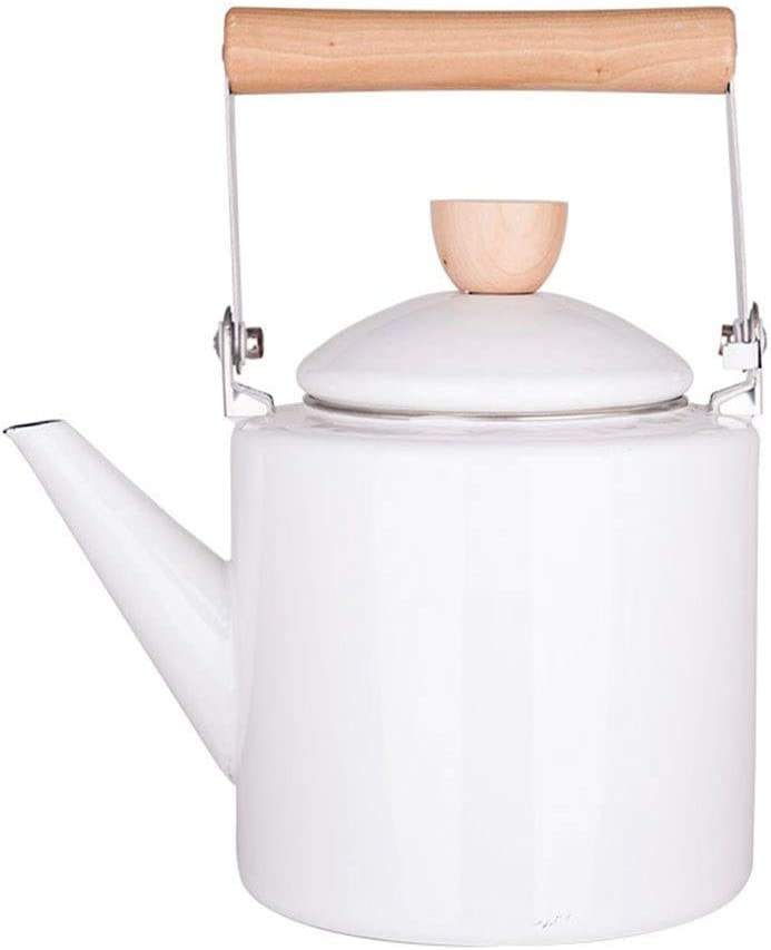 WHLMYH Kettle, White Enamel Kettle, Thickening Home Induction Cooker Teapot
