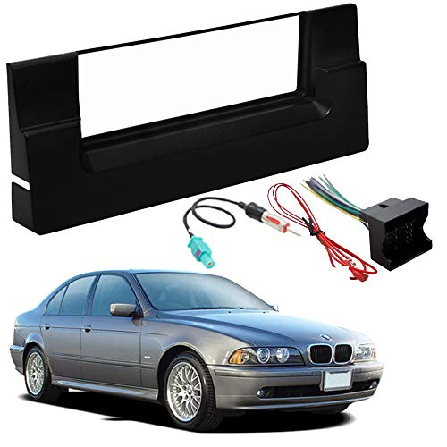 Bmw 5 Series 2001 Model - Compatible with BMW 5 Series 2001-2003 Single DIN Stereo Harness Radio Install Dash Kit Package