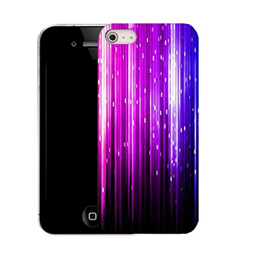 Mobile Case Mate IPhone 4s clip on Silicone Coque couverture case cover Pare-chocs + STYLET - purple falling strip pattern (SILICON)