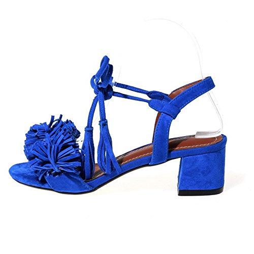 Adee - Sandalias de vestir para mujer azul oscuro