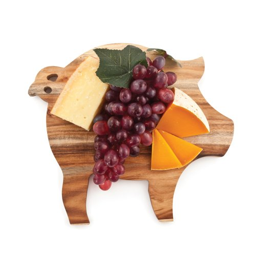 Rustic Farmhouse Pig Cheese Board by Twine (Cutting Board Wood Pig)