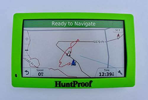 GREEN HUNTPROOF PROTECTIVE CASE WITH SCREEN PROTECTOR FOR GARMIN DRIVETRACK 70