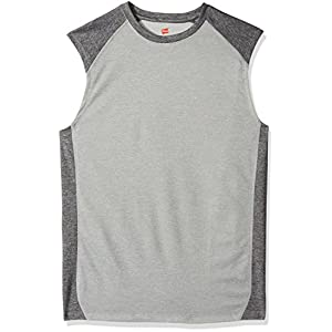 Hanes Men's Sport Performance Muscle Tee, Oxford Grey Heather/Granite Heather, X-Large