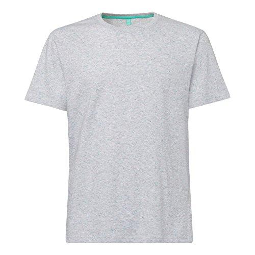 THOKKTHOKK TT02 T-Shirt Grey Melange Spotted GOTS Fairtrade