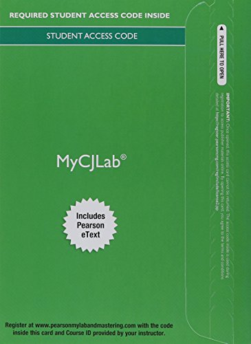MyLab Criminal Justice with Pearson eText -- Access Card -- for Corrections in America: An Introduction (My Cj Lab)