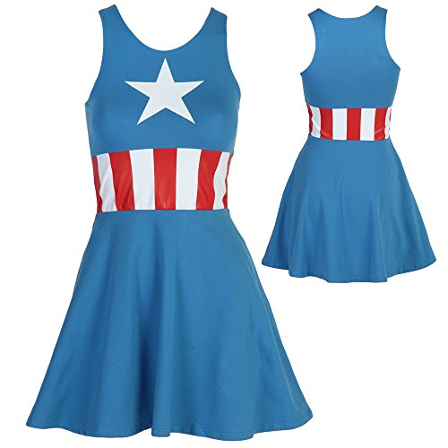Captain America Sleeveless Skater Dress