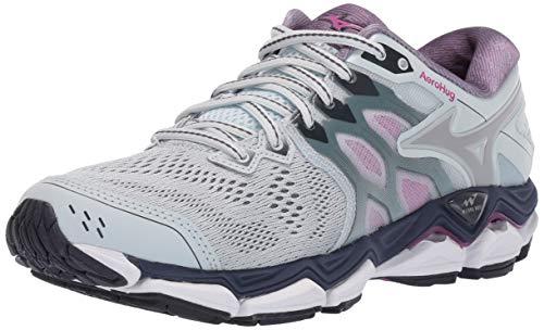 Mizuno Women's Wave Horizon 3 Running Shoe, Quarry-Silver 9 B US ()