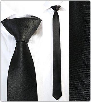 online store 2565f a2e19 MasQline Schmale Krawatte 5cm schwarz