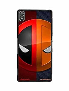 Sony Z3 Case, Animation Tough Back Cover For Sony Xperia Z3 Slim Fit Deathstroke (NOT for Z3V/Z3 Compact)