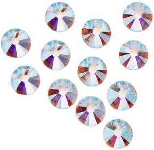 White Crystal AB Hot Fix Rhinestones Cristaux Flatback Strass pour les vêtements