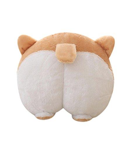 Sacow Cute Neck Pillow, Corgi Bottom Car Seat Neck Pillow Dog Buttocks Headrest Cushion Plush Toy