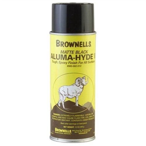Brownells Aluma-Hyde 2 Epoxy Based Firearms Finish Aerosol Can Matte Black