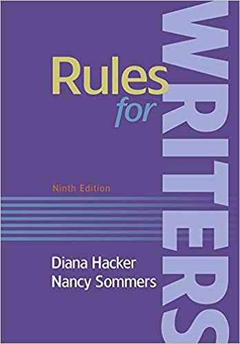 Rules For Writers With Writing About Literature (Tabbed Version) by Amazon