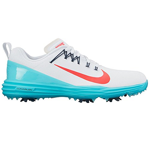 Nike Lunar Command 2 Golf Shoes 2017 Women White/Solar Red/Light Aqua/Armory Navy Medium 9.5