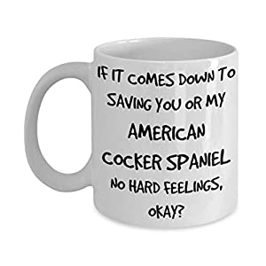 Funny American Cocker Spaniel Mug - White 11oz 15oz Ceramic Tea Coffee Cup - Perfect For Travel And Gifts 36