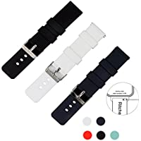 Ritche Quick Release Silicone Watch Bands 22mm Rubber Straps for Pebble 2,Pebble Time,Samsung Gear S3 Classic...