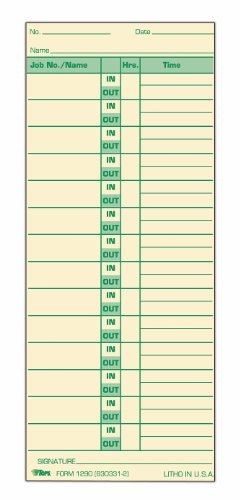 TOPS Job Cards, 2-Sided, 3-1/2