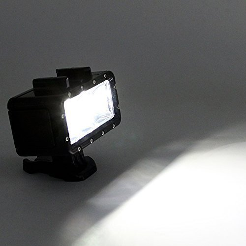 TELESIN POV Flash Dimmable LED Fill Night Light Underwater 30m Waterproof Diving Light Mount Kit by TELESIN