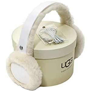 UGG Womens All Weather Water Resistant Sheepskin Earmuff with Tech Option