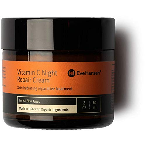 Eve Hansen Vitamin C Night Cream | Anti Aging Face Cream, Neck Cream, Vitamin C Cream, Vitamin E Cream | Natural Face Moisturizer for Acne Scar Removal, Dark Circles and Wrinkle Filler Skin Cream 2 oz
