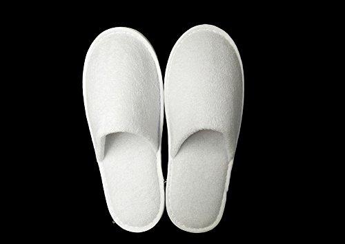 5x Blanc Pantoufles Portables Voyage Maison Chaussons De Antidérapantes Chytaii Hôtel Semelles Universels Jetables kn0PwO