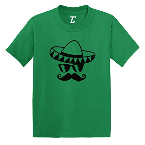Sombrero & Mustache - Mexico Mexican Infant/Toddler Cotton Jersey T-Shirt (Kelly, 24 Months) ()