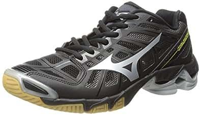 Mizuno Men's Wave Lightning RX2 Volleyball Shoe,Black/Silver,7.5 M US