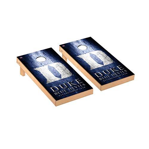 Victory Tailgate Regulation Collegiate NCAA Museum Series Cornhole Board Set - 2 Boards, 8 Bags - Duke Blue Devils