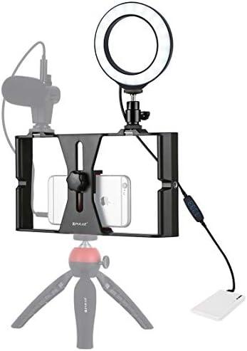 ビデオカメラ&ビデオアクセサリ 2 in 1 Vloggingライブブロードキャストスマートフォンビデオリグ 4.7インチ12c