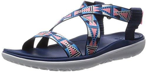 (Teva Women's Terra-Float Livia Sandal, Pink/Blue, 10 M US)