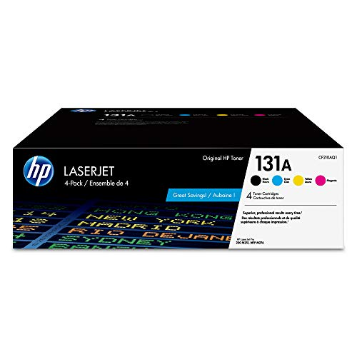 HP 131A   CF210AQ1   4 Toner Cartridges   Black, Cyan, Magenta, Yellow