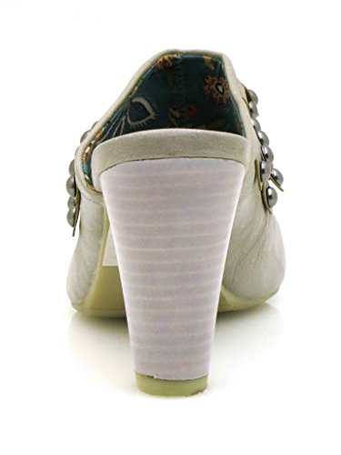 Laura Lenti Zuecos Zapatos mujer Zapatos Remaches gris
