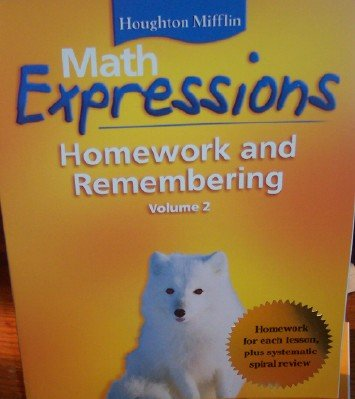 Math Worksheets houghton mifflin math worksheets grade 5 : Math Expressions: Homework and Remembering Grade 4 (Volume 2 ...