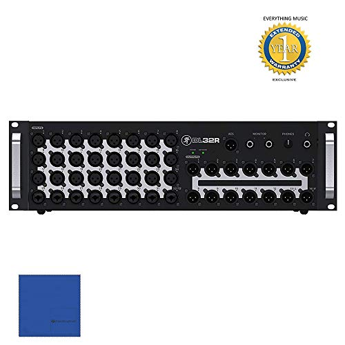 Mackie DL32R 32-Channel Wireless Digital Live Sound Mixer with 1 Year Free Extended Warranty and Microfiber