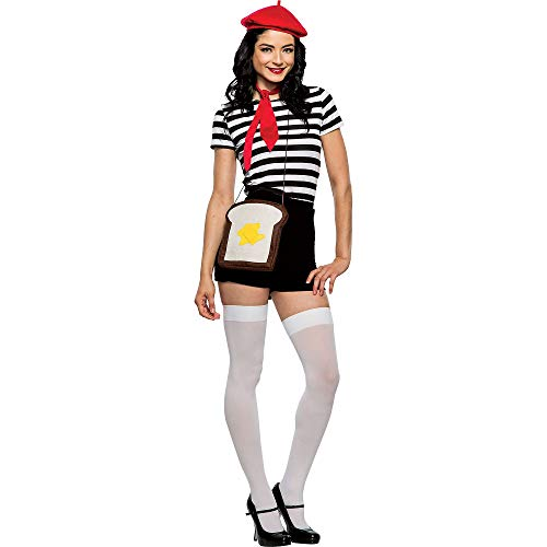 Seeing Red Inc French Toast Costume Accessory Supplies for Adults, Include a Red Beret, a Toast-Shaped Purse, and Sash]()