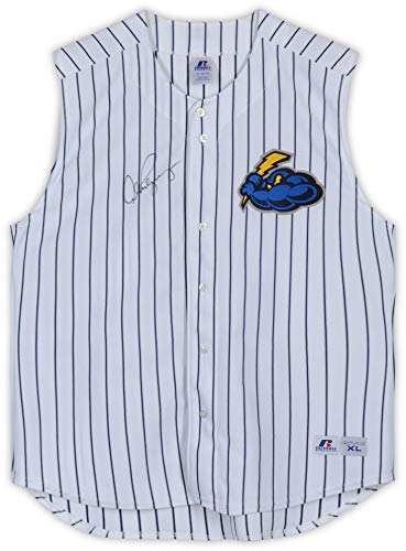 Alex Rodriguez Trenton Thunder Autographed Game-Used #13 Sleeveless Pinstripe Jersey vs. New Hampshire Fisher Cats on May 25, 2016-1-2, HR, 2 RBI - Fanatics Authentic Certified