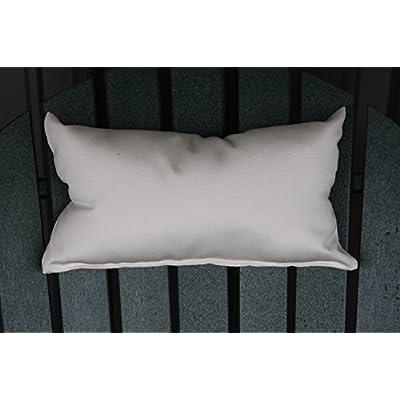 Furniture Barn USA Outdoor Adirondack Chair Head Pillow in Sundown Material- Natural : Garden & Outdoor