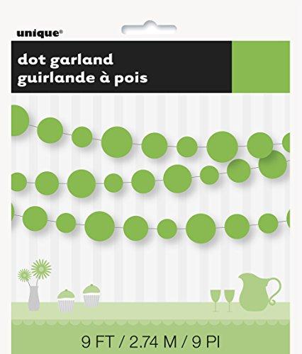Paper Lime Green Circle Garland