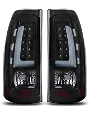 AUTOSAVER88 LED Taillights/Tail Lamp Compatible with 1999-2006 Chevy Silverado, 99-02 GMC Sierra 1500 2500 3500 / Pickup/Truck Black Smoke ATTL1020, Plug and Play Installation