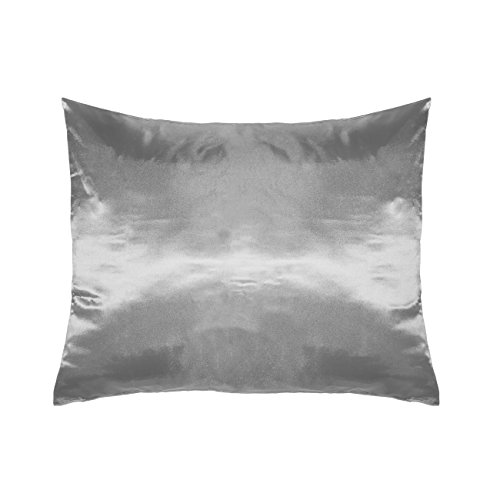 (Betty Dain Satin Pillowcase, Single, Slate Gray)