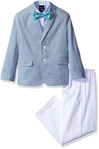 Nautica Little Boys' Toddler Pique Knit Duo Set with Bow Tie, Royal, 2T