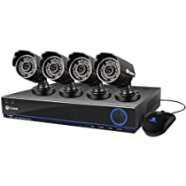 Swann SWDVK-832004S-US S 3200 8-Channel 960h DVR with 500GB HDD and 4-Cameras at 700 TVL (Black)