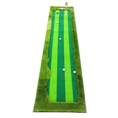 Synturfmats Golf Putting Green Mat Indoor/Outdoor Golf Training Aids System Real-Like Artificial Grass Putting Trainer Set for Home, Office Practise