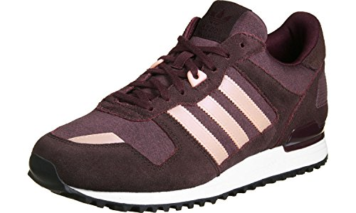 Damen Hals ZX Sneaker Low Haze Night Red 700 Rot Maroon adidas Coral dw1Xq6x5w