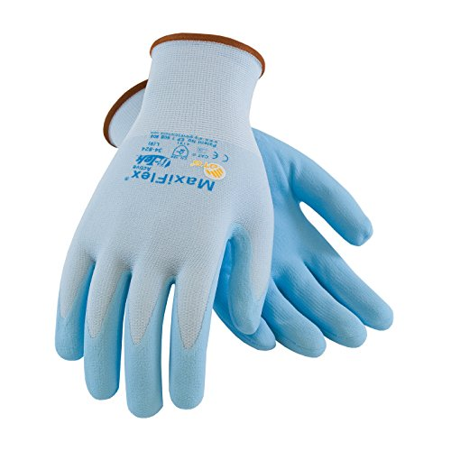 MaxiFlex Active 34-824/XL Seamless Knit Nylon/Lycra Glove with Ultra Lightweight Nitrile Coated Micro-Foam Grip on Palm and Fingers