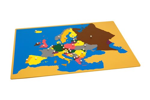 Montessori Puzzle Map of Europe with Control Maps by Kid Advance
