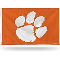 Rico Industries NCAA Clemson Tigers Banner Flag 3-Foot by 5-Foot