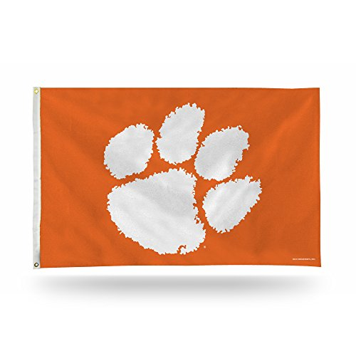 (Rico Industries NCAA Clemson Tigers Banner Flag 3-Foot by 5-Foot)