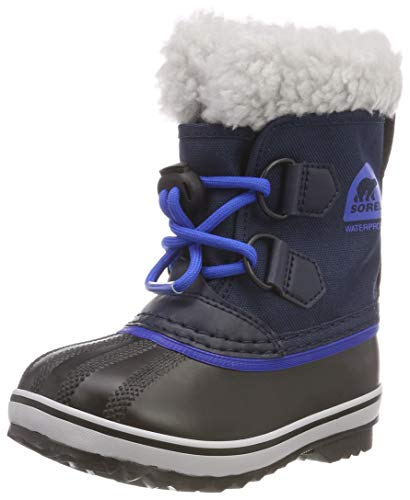(Sorel Girls' Children's Yoot Pac Nylon Snow Boot, Collegiate Navy, Super Blue, 13 M US Little Kid)