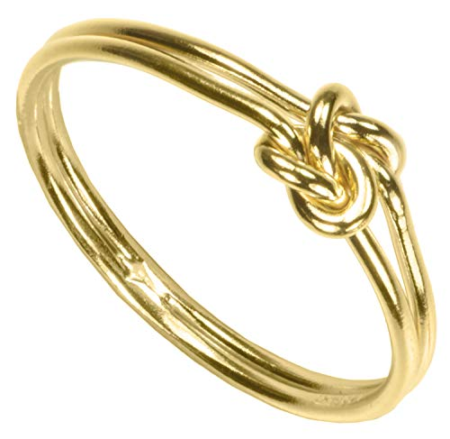 uGems 14K Gold Filled Double Love Knot Ring Size 7